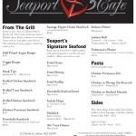 Seaport Cafe Menu - Back