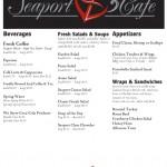 Seaport Cafe Menu - Front